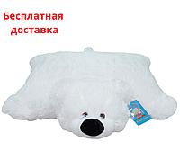 Детская подушка-игрушка Мишка 55 см белая