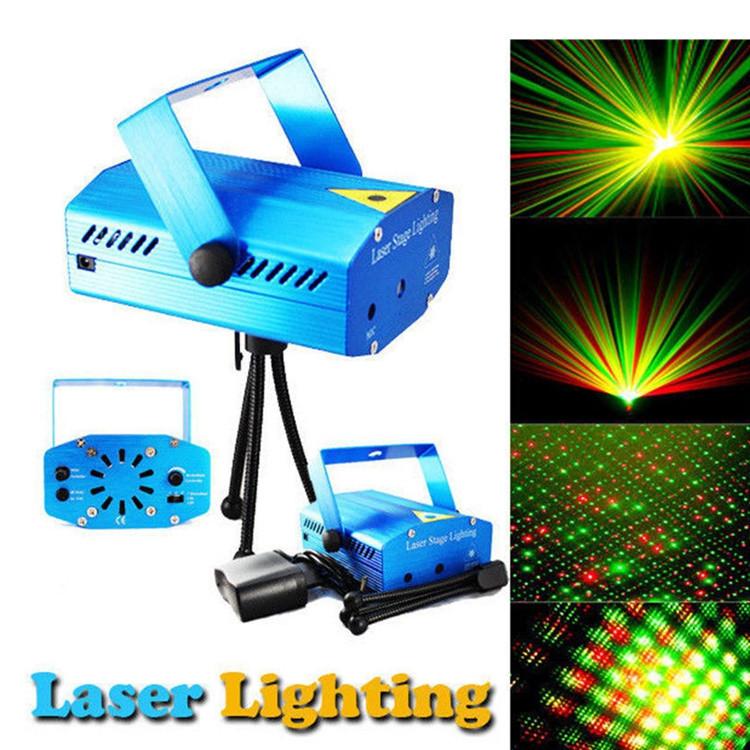 Лазерный проектор Диско LASER HJ09 2in1   Mini Laser Stage Lighting с триногой