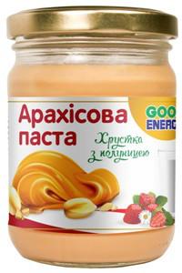Арахісова паста (арахісове масло) хрустка з полуницею Good Energy 250 г