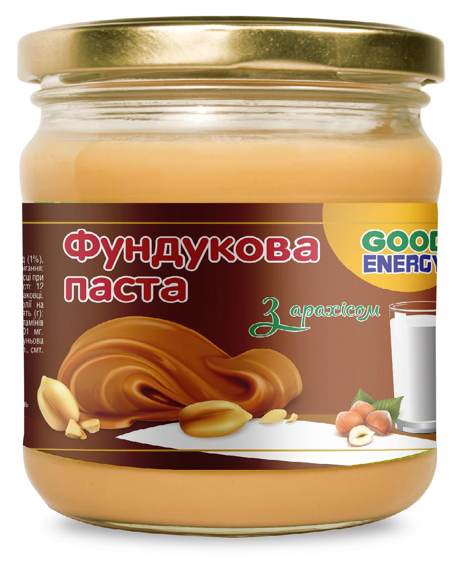 Фундука паста з арахісом ТМ Good Energy 180 г