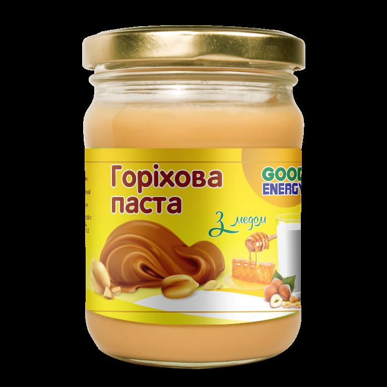 Горіхова паста з медом ТМ Good Energy 250 г