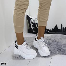 Жіночі снікерси білі 6045