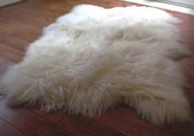Килим з 4-х овечих шкур ісландської породи (довга шерсть)