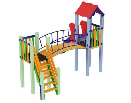 Дитячий комплекс Сонечко, висота гірки 1,2 м, фото 2