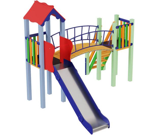 Дитячий комплекс Сонечко, висота гірки 1,2 м