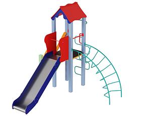 Дитячий комплекс Півник, висота гірки 1,2 м