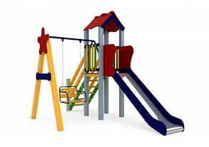 Дитячий комплекс Малюк, висота гірки 1,2 м, фото 3