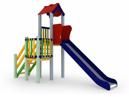Детский комплекс Уют, высота горки 1,5 м