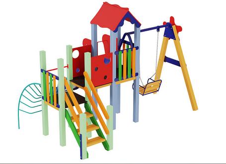 Детский комплекс Ласточка, высота горки 1,5 м, фото 2