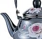 Эмалированный чайник с подвижной ручкой Benson BN-101 черный с рисунком (1,5 л), фото 2
