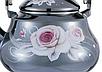 Эмалированный чайник с подвижной ручкой Benson BN-101 черный с рисунком (1,5 л), фото 5