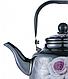 Эмалированный чайник с подвижной ручкой Benson BN-104 черный с рисунком (1.1 л), фото 2