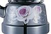 Эмалированный чайник с подвижной ручкой Benson BN-104 черный с рисунком (1.1 л), фото 4