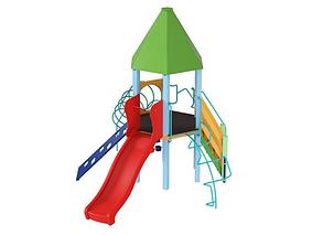 Детский комплекс Башня с пластиковой горкой, фото 2
