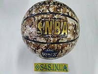 """М'яч баскетбольний Spalding PU Houston Rockets,розмір 7,смуга, """"плями"""""""