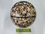 """М'яч баскетбольний Spalding PU Houston Rockets,розмір 7,смуга, """"плями"""", фото 2"""