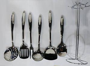 Кухонный набор из 7 предметов Benson BN-452   лопатка   вилка для мяса   половник   шумовка