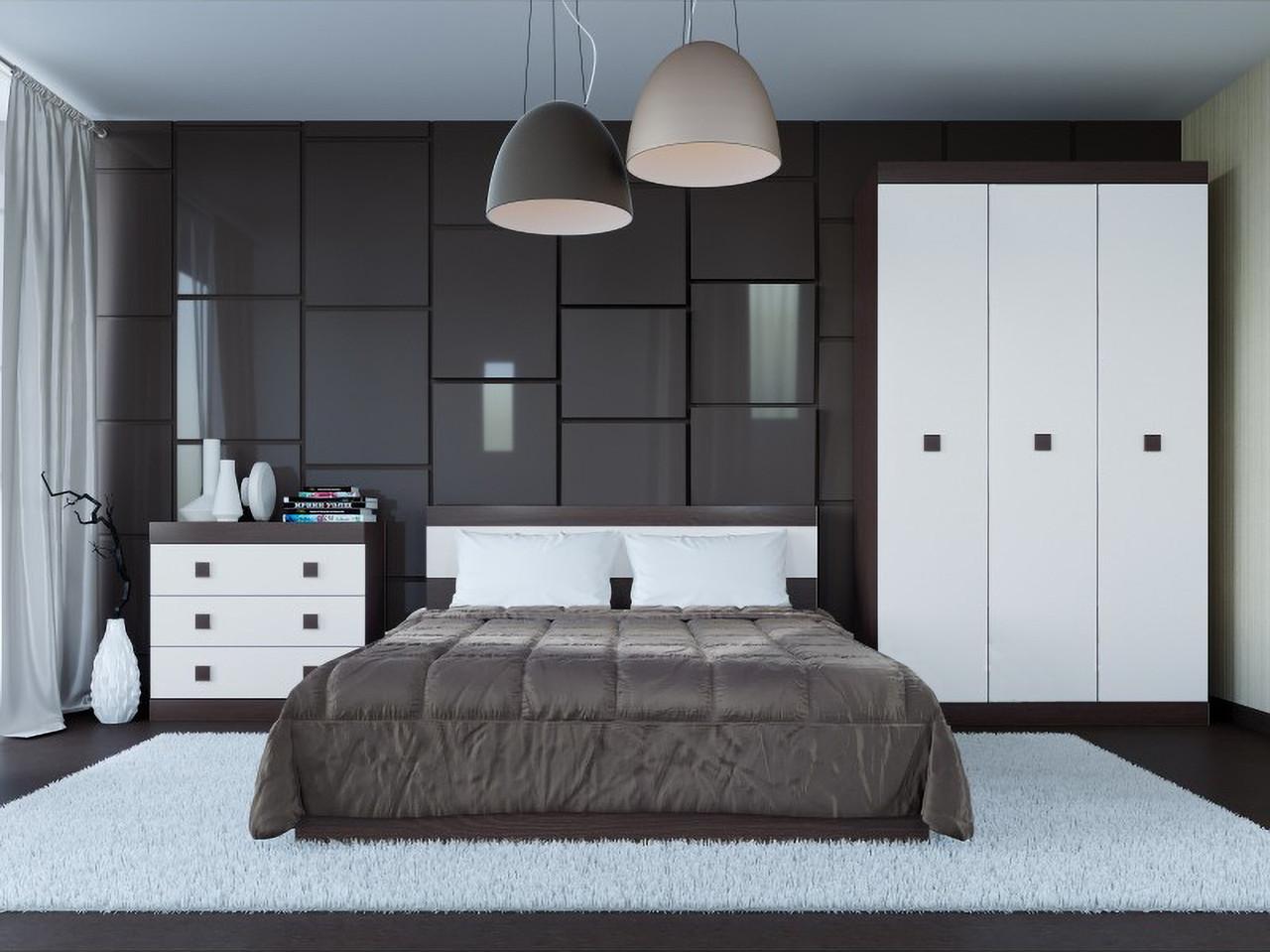 Спальня комплект 1 ЭВЕРЕСТ Дуб сонома + Белый, фото 2