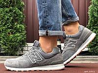 Чоловічі зимові замшеві кросівки New Balance 574 сірі, фото 1