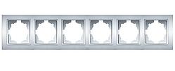 Рамка 6-а универсальная серебряная EL-BI Zena