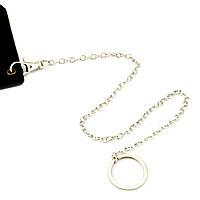Ланцюжок з карабіном і кільцем для посвідчень металева 40 см, фото 1