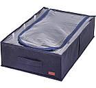 Текстильный кофр для хранения вещей на 4 отдела (со съемными перегородками) (джинс), фото 4