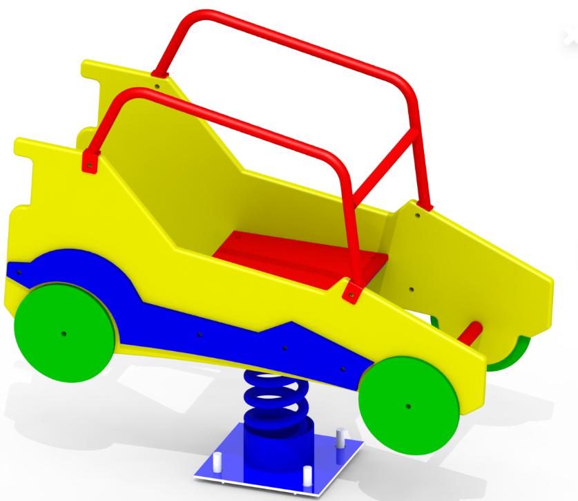 Гойдалка на пружині Автомобіль K28