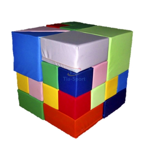 Мягкий конструктор Кубик Рубика, 28 эл