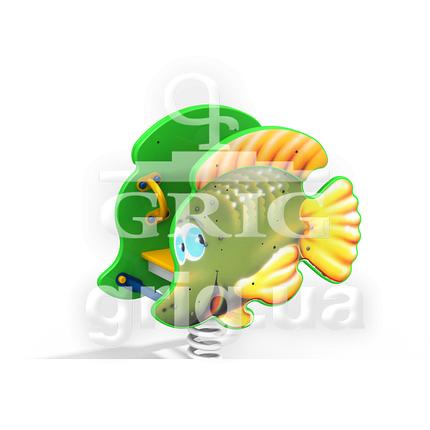 """Качалка на пружині """"Золота рибка"""", фото 2"""