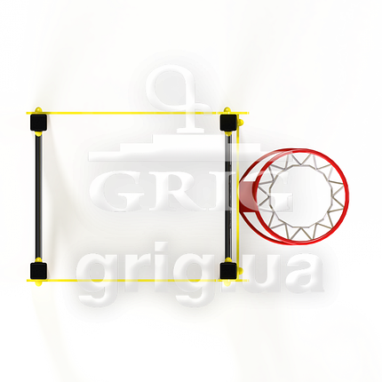 """Спортивный элемент """"Жираф с баскетбольным кольцом"""", фото 2"""