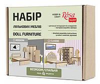 """Набор кукольной мебели """"Спальня"""" 2, классик, 4 предмета, фанера, ROSA TALENT 287406"""