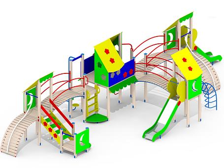 Детский игровой комплекс І98, фото 2