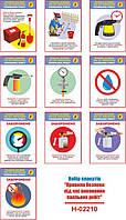 """""""Правила безпеки під час виконання паяльних робіт"""" (10 плакатів, ф. А3)"""