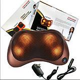 Универсальная роликовая массажная подушка Massage pillow for home and car 2 ролика, фото 2