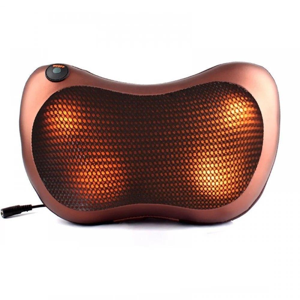 Универсальная роликовая массажная подушка Massage pillow for home and car 2 ролика