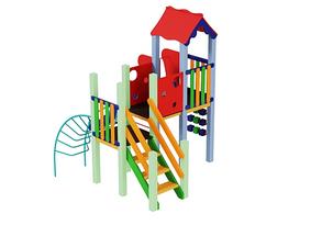 Дитячий комплекс Качечка, висота гірки 1,2 м, фото 2