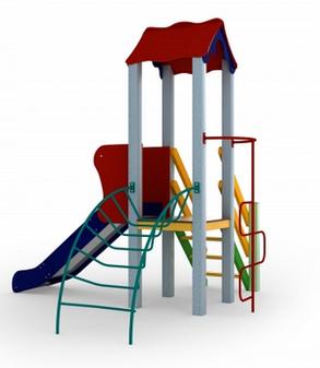 Детский комплекс Петушок, высота горки 0,9 м, фото 2