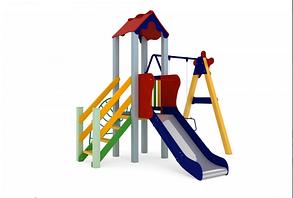 Детские уличные игры Бабочка, высота горки 0,9 м, фото 3