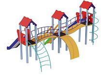 Детский комплекс Стена, высота горки 1,2 м и 1,5 м, фото 2