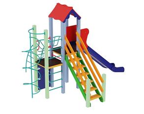 Дитячі майданчики з металу Промінь, висота гірки 1,5 м, фото 2