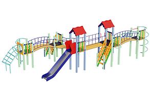 Детский комплекс Змейка, высота горки 1,5 м, фото 2