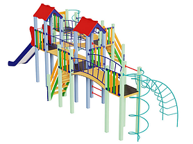 Детский комплекс Змейка, высота горки 1,5 м, фото 3