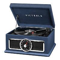 """Проигрыватель для виниловых пластинок многофункциональный Victrola 740011 """"PlazaBlue"""" синий"""
