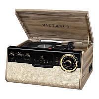 """Проигрыватель для виниловых пластинок многофункциональный Victrola 740013 """"Gramersy"""" бежевый"""