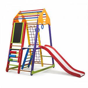 Спортивный уголок деревянный BambinoWood Color Plus 3, фото 2