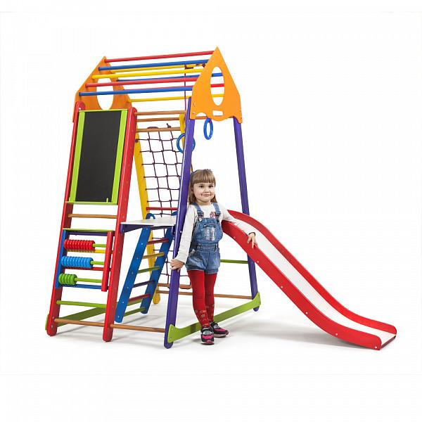 Спортивный уголок деревянный BambinoWood Color Plus 3