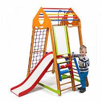 BambinoWood Plus 3 | Деревянный спортивный уголок трансформер | Детский спорткомплекс, фото 3