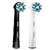 2 шт. Насадки для зубной щетки ORAL-B Cross Action (EB50) белая+черная