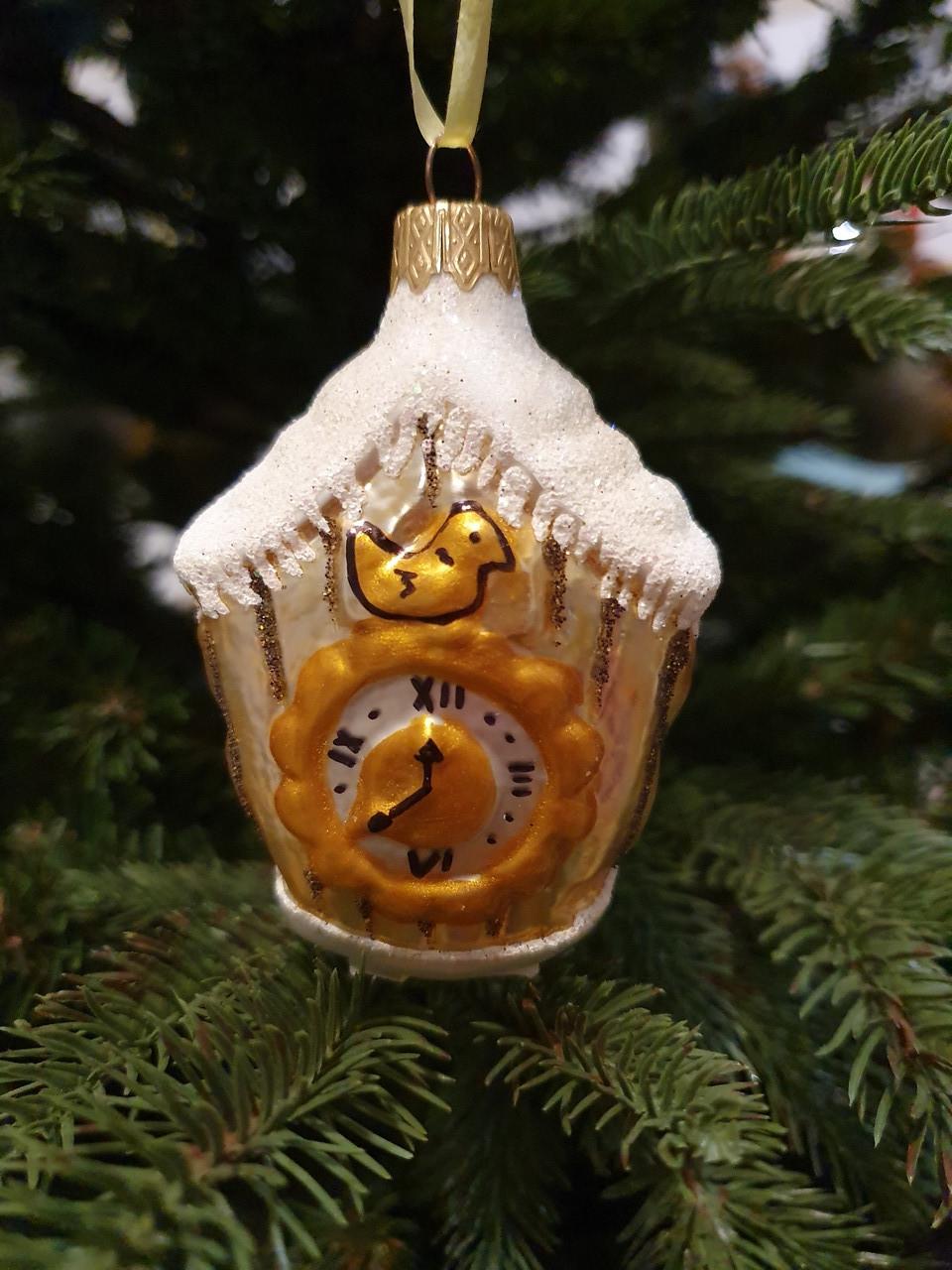 """Новогодняя елочная игрушка """"Часы с кукушкой"""""""