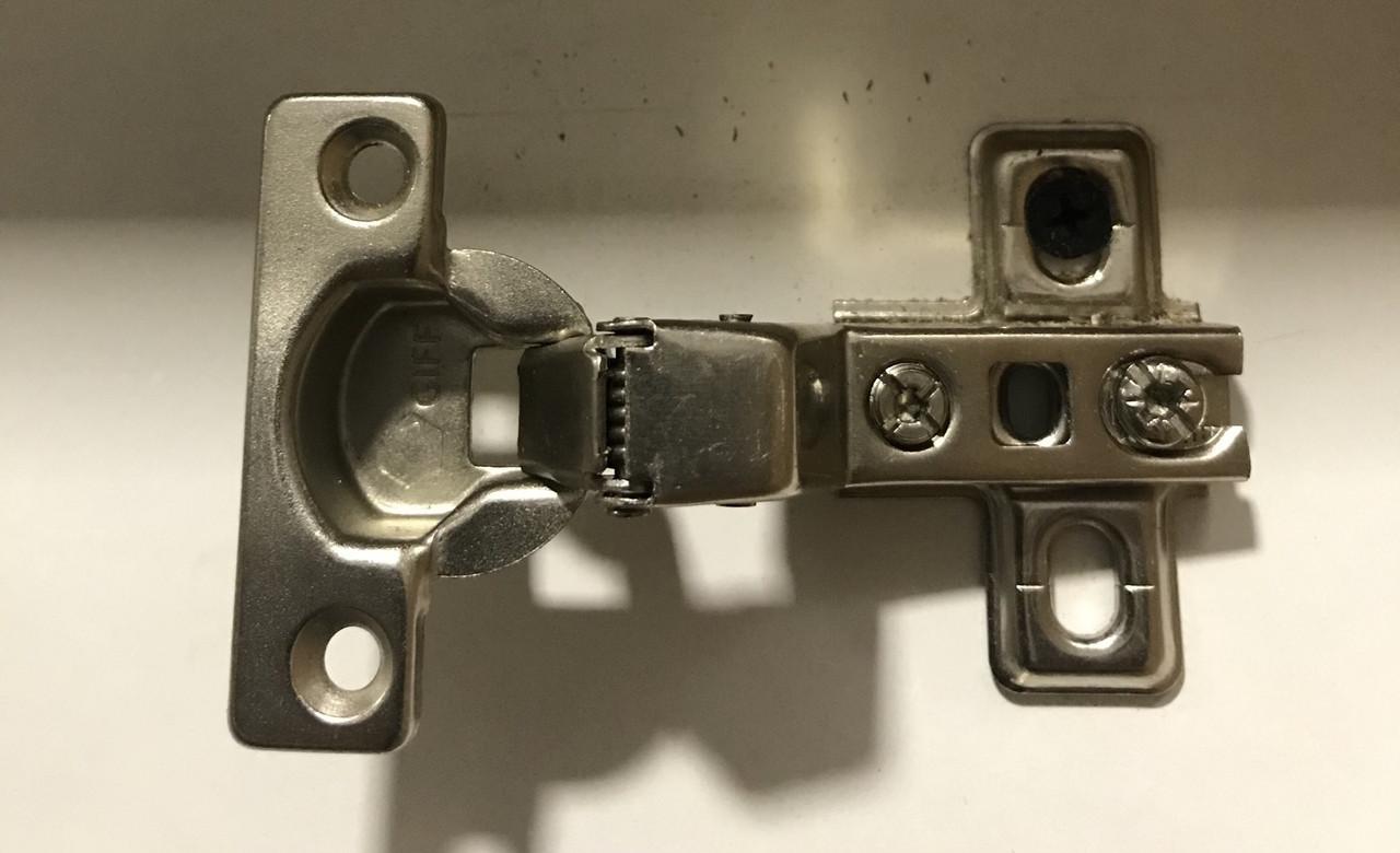 Петля мебельная GIFF (07498) внутренняя (мини) Slide-on d = 26 H = 0 никель